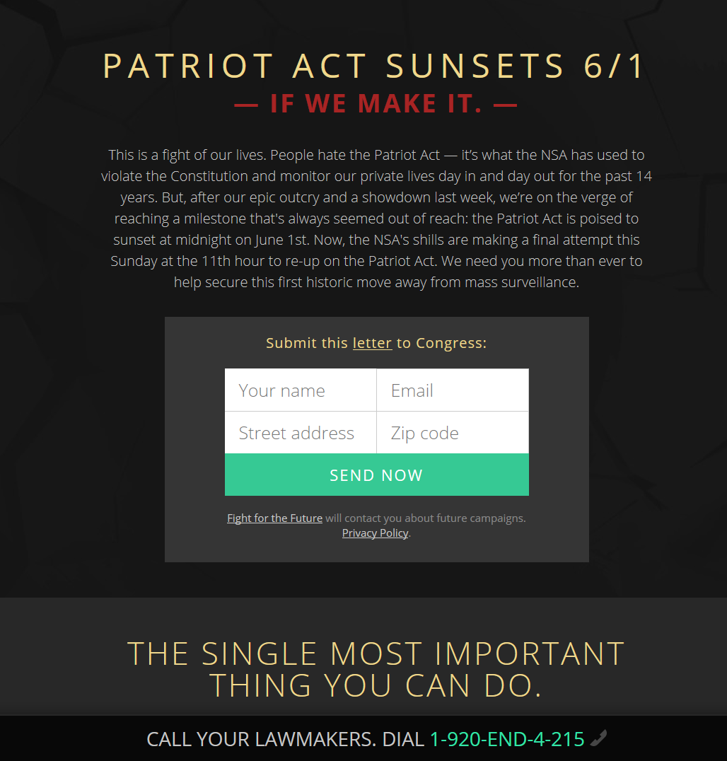 Sunset the PATRIOT Act – NOW21.36